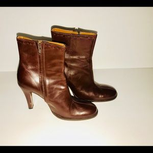 J.crew women's leather heeled boots